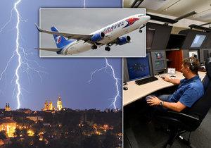 Letový provoz nad Českem letos hodně komplikují bouřky. (ilustrační foto)