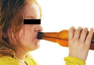 Dvě školačky (13 a 15) v Brně se opily do bezvědomí. Ilustrační foto