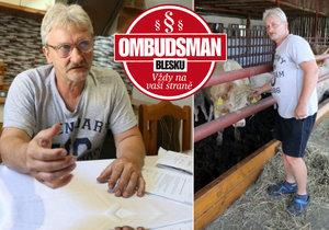 Starost o třísethlavé stádo krav se panu Františku Kesnerovi stala osudnou.
