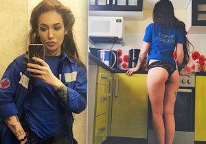 """""""Nejvíc sexy doktorka v Moskvě"""" Anastázia Ivaševskaja zveřějňovala na sociálních sítích sexy fotky a sklidila za to vlnu pobouření."""