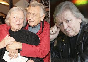 Nešťastný Vašek Neckář nemohl za svým nemocným kamarádem Jiřím Menzelem, brzy ale budou opět spolu.