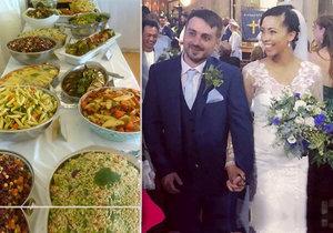 Novomanželský pár pohostil 140 hostů za neuvěřitelných 173 korun!