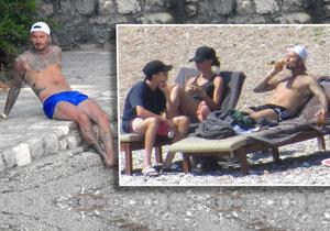 Beckhamovi odpočívají v Chorvatsku.
