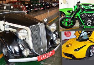 Unikátní přehlídka historických i současných automobilů nazvaná Skvosty s vůní benzinu se koná od čtvrtka do neděle v Plzni.