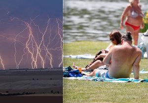 Na severu slunce, na jihu bouřky. Nedělní počasí rozdělí Česko