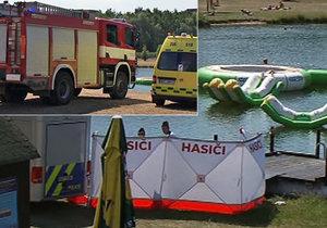 Tragédie v Mostě: Muž chtěl zachránit topícího syna. Sám se při záchraně utopil