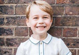 Narozeninový portrét prince George, který 22. 7. 2018 slaví své páté narozeniny