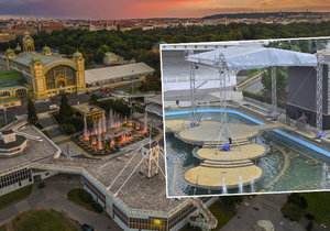 Světové mistry vystřídala obrazovka: Křižíkova fontána chátrá, její budoucnost je nejasná.