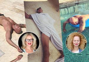 Anička Linhartová vyfotila sérii fotek svého spícího otce.