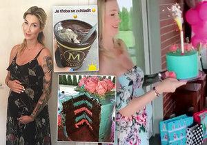 Dominika Mesarošová ujíždí v těhotenství na sladkostech.