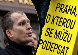 Čižinský s Prahou Sobě už má dost podpisů, aby mohl kandidovat na magistrát. Ze hry ho ale mohou vyřadit chyby