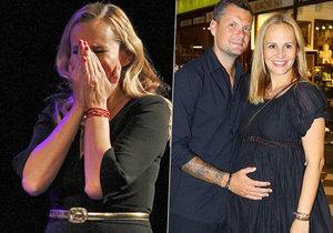 Těhotná Monika Absolonová v slzách: Zasáhla ji smrt milovaného člověka!