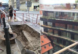 Zeleně by mohlo být v Praze mnohem víc, příkladem je fasáda domu Drn. V ulicích záměr hatí špatně rozmístěné inženýrské sítě.