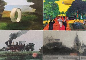 Poetická fascinace technikou. Galerie 1 vystavuje průřez tvorbou Kamila Lhotáka