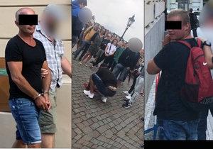 VIDEO: Skořápkáři na Karlově mostě okrádali turisty! Sedm podvodníků zadržela policie