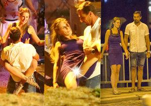 Kdo je dívka v modrém, která s Romanem Šebrlem protančila vášnivě celou noc?