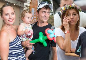 Vandě Hybnerové zmizel úsměv z tváře, když se na stejné akci setkala s exmanželem Sašou Rašilovem a jeho novou rodinou.
