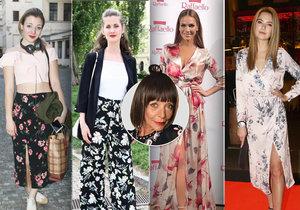 Františka zhodnotila celebrity, které nosí šaty s květinovými motivy.