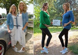 Adriana Sklenaříková si poměřovala těhotenské bříško se svou mladší sestrou.