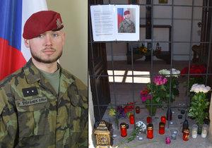 Na počest padlého vojáka Patrika Štěpánka vzniklo v jeho rodném městě pietní místo.