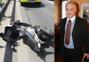 Bob Klepl po nehodě tajil ošklivá zranění.