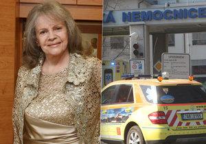 První rozhovor s Evou Pilarovou po těžkém úrazu. Dnešní 79. narozeniny stráví v nemocnici.
