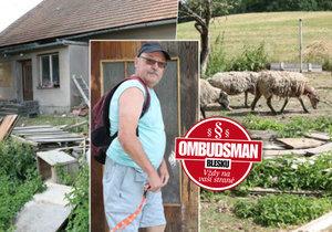 Stádečko ovcí týrá hladem a žízní už rok místní »chovatel« – úřady jsou na něj krátké.