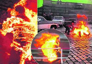 Na filmovém plátně uvidíme i ten nejotřesnější okamžik – Palacha v plamenech.