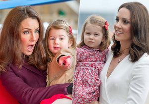 Heidi Agan a Scarlett Evered imitují vévodkyni Kate a princeznu Charlotte.