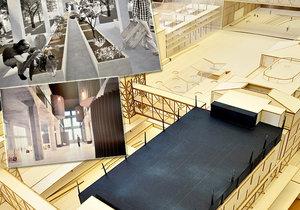 Jak by mohlo vypadat Nákladové nádraží Žižkov? Studenti ČVUT by v něm rádi viděli bazén či galerii