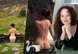 Padesátnice Sára Saudková se nestydí! Provokuje nahými fotkami.