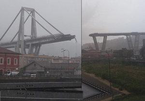 Tragédie v Itálii: Zhroutil se kus mostu, jezdila po něm auta. Trosky padaly na domy