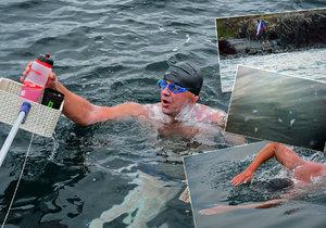 VIDEO: Táta od rodiny jako první Čech přeplaval Severní kanál: V drsných vodách Jaroslava (42) požahaly medúzy