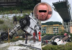 Čech Martin přežil pád mostu v Janově. Seděl zrovna za volantem kamionu.