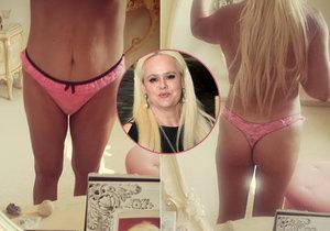Monika Štiková chce dokázat, že hubne. Nafotila a zveřejnila proto snímky, které to mají dokázat.
