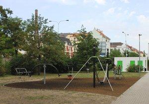 Upravené hřiště Sedmikráska v Jateční ulici