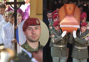 Pohřeb vojáka Kamila Beneše, který zahynul v Afghánistánu při útoku sebevražedného atentátníka.