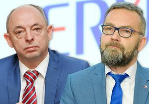 Nejasnosti kolem ERÚ: Odvolaný expředseda Outrata zůstal v radě, vpravo současný šéf Košťál