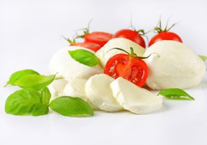 Test Blesku - mozzarella
