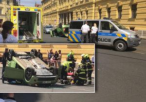 Ve Spálené se stala nehoda dvou vozidel.