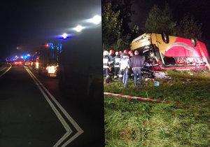 Ukrajinský autobus havaroval v Polsku: 3 mrtví a 18 zraněných