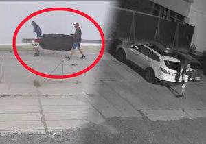 Dva zloději z Karlína: Za bílého dne ukradli nosič z auta