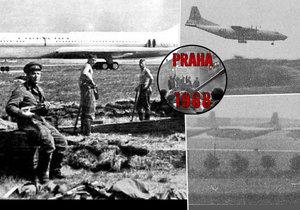 Zahájení srpnové okupace roku 1968 na ruzyňském letišti.