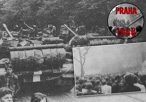23. srpna 1968 v Praze: Lidé zahájili generální stávku, později zamalovávali a odstraňovali názvy ulic.