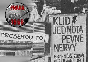 Po Praze se během srpnové okupace roku 1968 objevila řada různých ilustrací, nápisů a hesel.