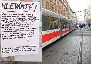 Mladík sepsal milostnou výzvu pro neznámou dívku, kterou potkal v brněnské tramvaji.