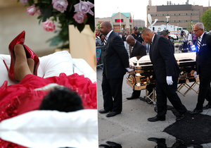 Za královnu i na pohřbu: Tělo zpěvačky Arethy Franklin je na dva dny vystavené v rakvi  ze zlata.