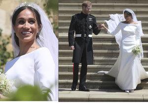 Svatební šaty Meghan Markle budou vystaveny ve Winsdoru.