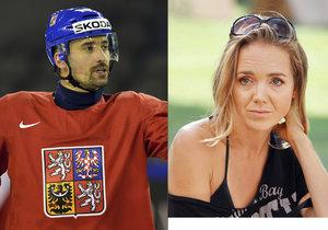 Lucie Vondráčková a Tomáš Plekanec