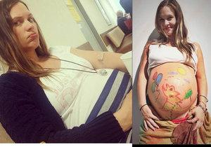 Leichtová z Ohnivýho kuřete o porodu: Stres a 12 dní přenášení!